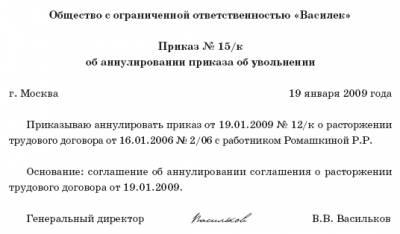 Компенсация при увольнении работника по соглашению сторон