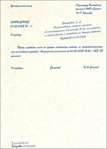 Пример приказа о переводе на постоянную работу