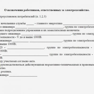приказ о направлении на обучение по электробезопасности образец - фото 3